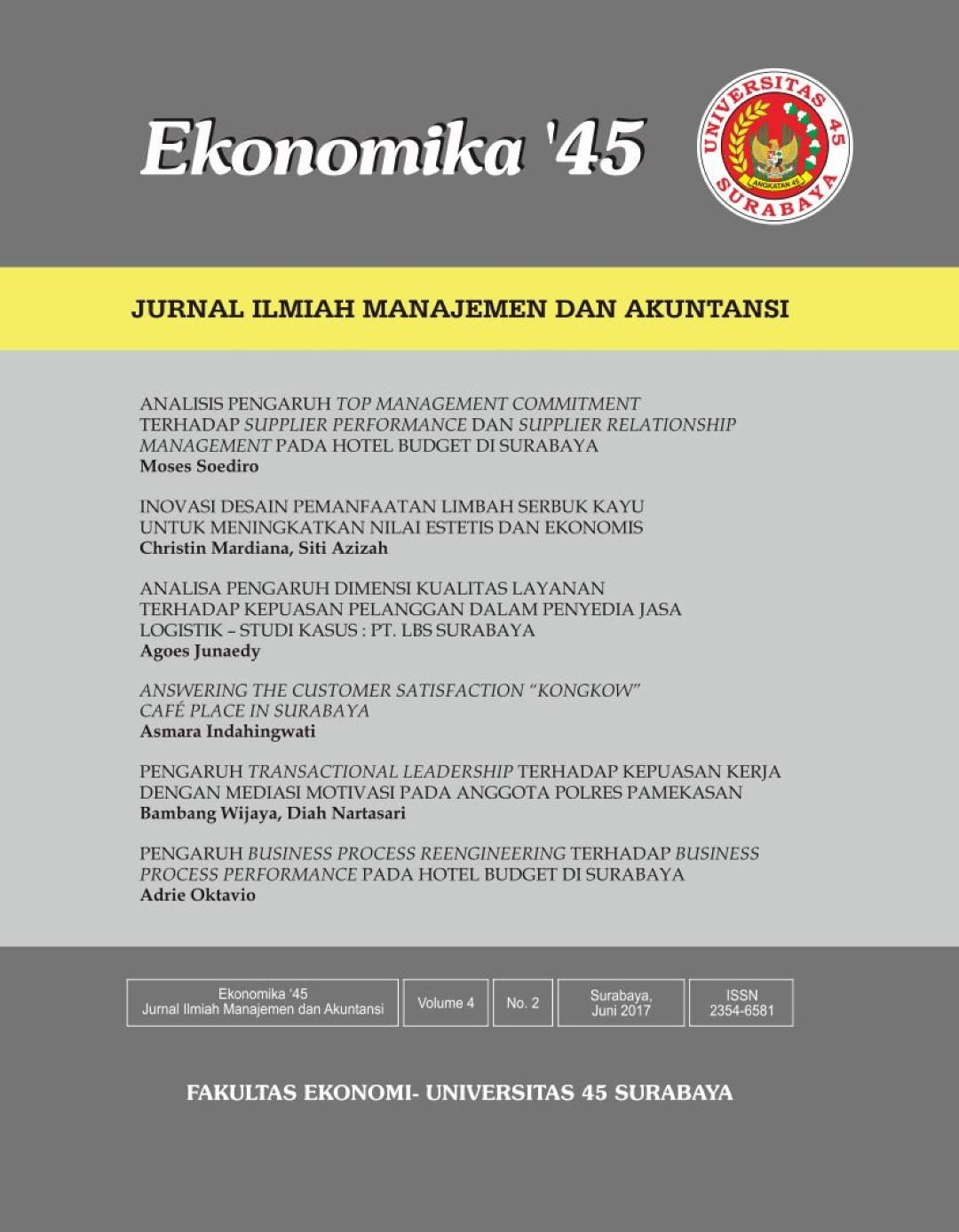 Jurnal Ekonomika Vol. 2 No. 2 Juni 2017